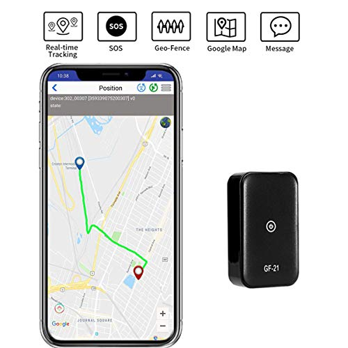 GPS Tracker Mini Portable SOS GPS Location Tracker Real Time Anti-Theft Spy Tracking with No Monthly...