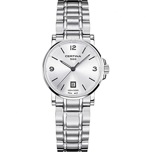 Certina – Reloj de pulsera analógico para mujer (tamaño XS cuarzo acero inoxidable C017.