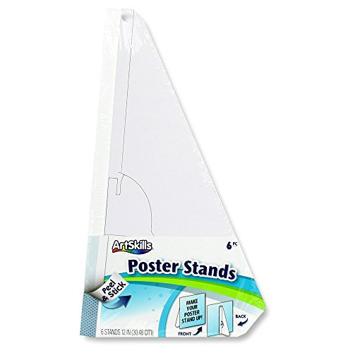 - ArtSkills Easel Backs, Arts and Crafts Supplies, Peel and Stick Poster Stands for Foam and Poster Boards, 12