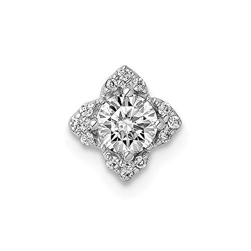 Jewelry Pendants & Charms Slides 14k White Gold Diamond Semi-mount Pendant