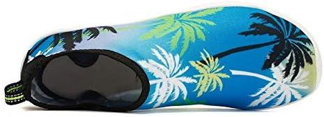 ユニセックス屋外スイミング/ダイビング/スピード干渉水/上流/肌/浜辺/砂の水陸両用/サーフィン用ソックス/アンチサンゴフィットネスランニングシューズ ポータブル (色 : Blue beach style, Size : US8.5)