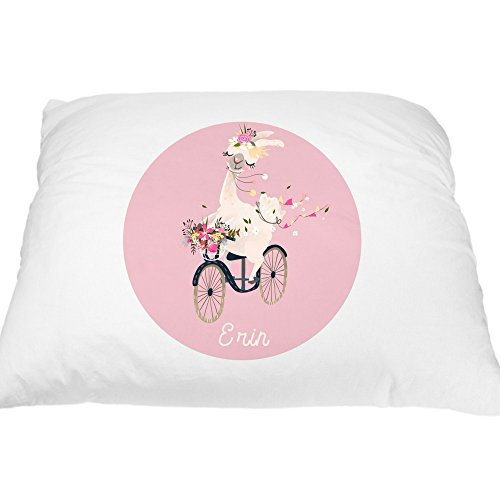Personalized Pillowcase for Kids - Cute Llama Pillow Case, Alpaca Custom Pillowcase for Kids, Cute Pillows, Kawaii Alpaca Pillow Cover, Personalized Gifts for Kids, Standard Pillowcases 20x30 inches ()