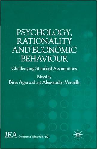 psychology rationality and economic behaviour agarwal bina vercelli aless andro