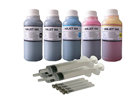 ND Brand 5 bottles 250ml refill ink for Epson 273 T273 ink cartridge: XP-520 XP-620 XP-820.