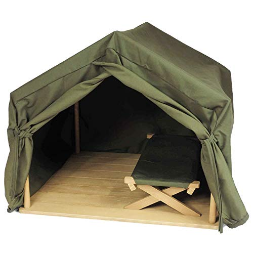 The Queen's Treasures 18 Inch Doll Gombe Rainforest Tent & Cot Camping Set.Furniture & Accessories Fits Two American Girl Dolls, Furniture & Accessories