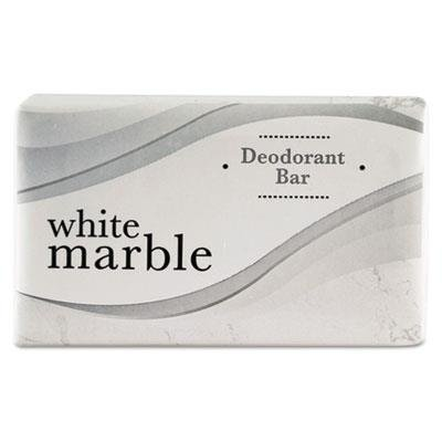 White Marble Deodorant Soap Bar Size: 0.75 ounces
