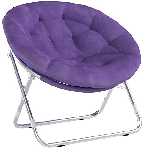 Very Comfortable Mainstays Faux-Fur Saucer Chair (Purple) by Very Comfortable Mainstays