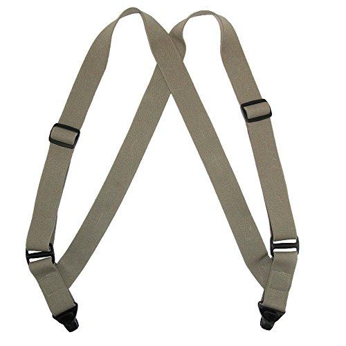CTM Men's Elastic Side Plastic Clip TSA Compliant Airport Suspenders, Black by CTM (Image #2)