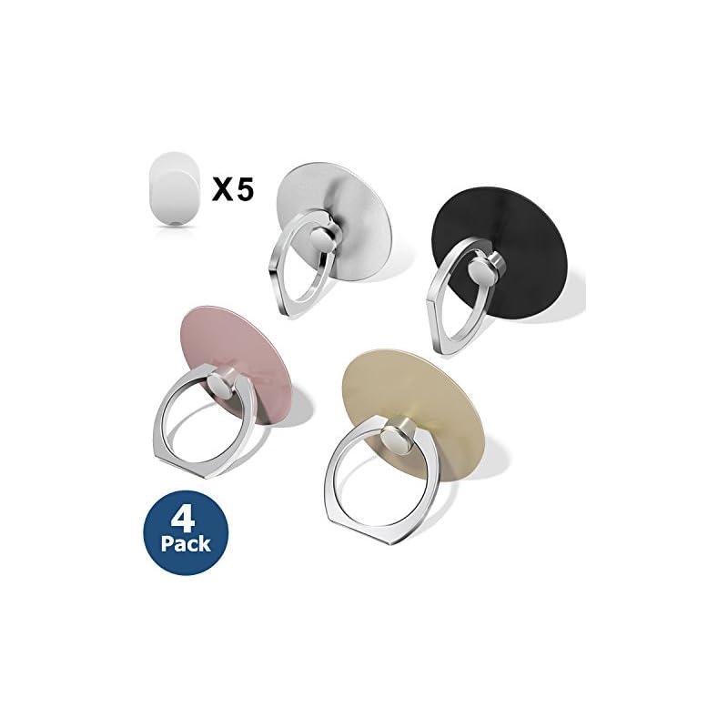 Finger Ring Stand Holder, 4 Pack Cell Ph