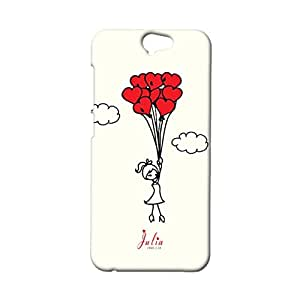 3d Protective Cover for HTC one A9,Creative Love Flower Couples Series Pattern Phone Case Snap on HTC one A9
