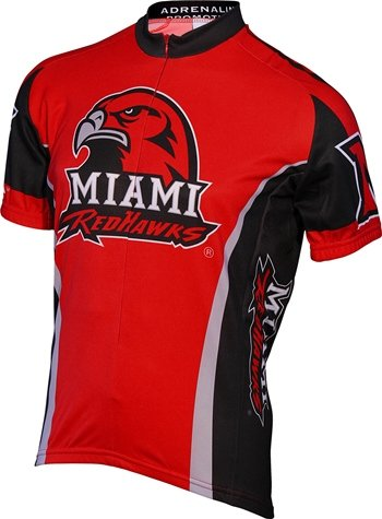 University Cycling Jersey - NCAA Men's Miami Ohio Red Hawks Cycling Jersey, Large, Red