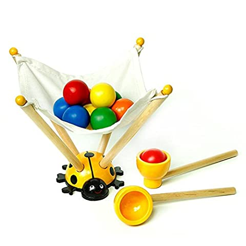 Korean Carrying & Counting Beads Toys Handcrafted Wooden Toy for Children - (Handcrafted Perle)