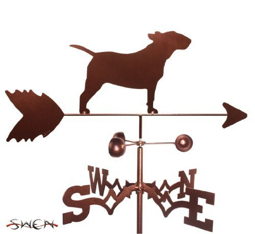 Hand Made BULL TERRIER DOG SIDE Mount Weathervane ~NEW~ by SWEN Products