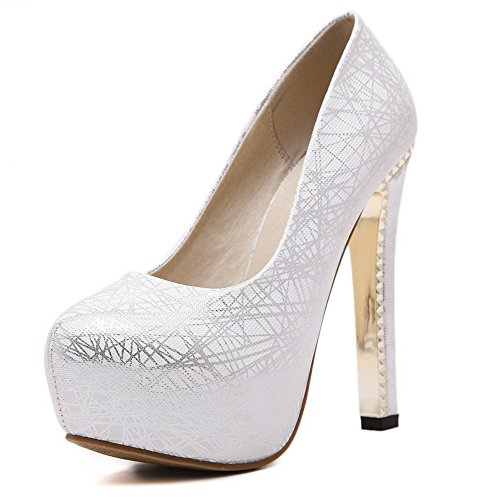 1TO9 Mmsg00169, Plateforme femme silver