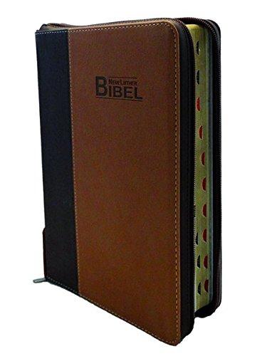 NeueLuther Bibel: Luther 2009 - Softcover PU Cowboy braun - Goldschnitt, Griffregister, Reißverschluss
