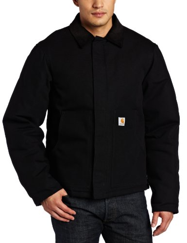 Carhartt Men's Big & Tall Arctic Quilt Lined Duck Traditional Jacket,Black,Large Tall
