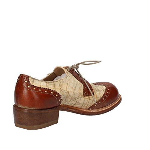 MOMA - Zapatos de cordones de Piel para mujer Marrone/Bianco