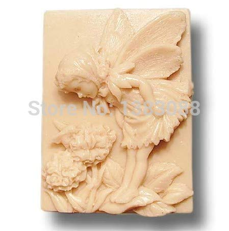 Chocolate Mould - Enjoying Flowers Angel Soap Mold Fondant Cake Molds Chocolate Mould Fm327 - Chocolate Cake Mould Puzzle Fondant Baby Shoes Sphere Heels Peanut Moldes Plastic Mold Plaque Paint B
