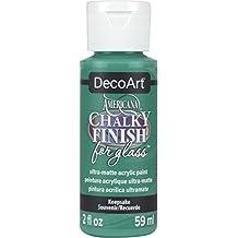 DecoArt ADCG34-30 Chalky Finish Glass 2 Oz Paint, Keepsake Chalky Finsh Glass Paint
