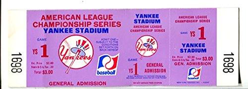NEW YORK YANKEES-ACLS GAME TICKET-GENERAL ADMISSION -UNUSED-1970
