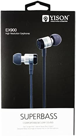Yison ® Metal EX900 Super Bass In ear Headphone suitable for Huawei P Smart+2019