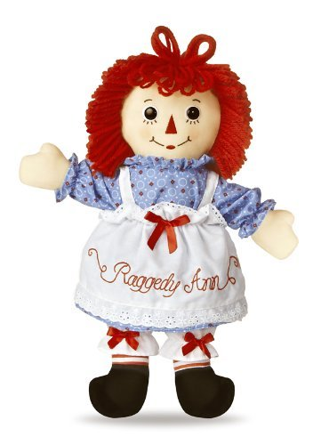 Raggedy Andy Button Eye - Aurora World Raggedy Ann Classic Doll 16