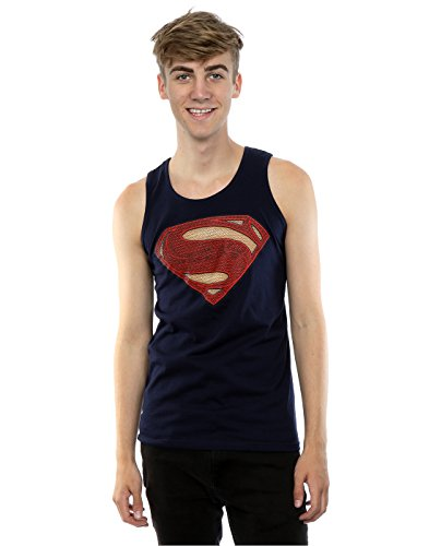 Superman+tank+tops Products : DC Comics Men's Superman Man of Steel Logo Tank Top