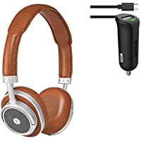 Master & Dynamic MW50 Wireless Bluetooth Headphone & Car Charger Bundle - Brown/Silver