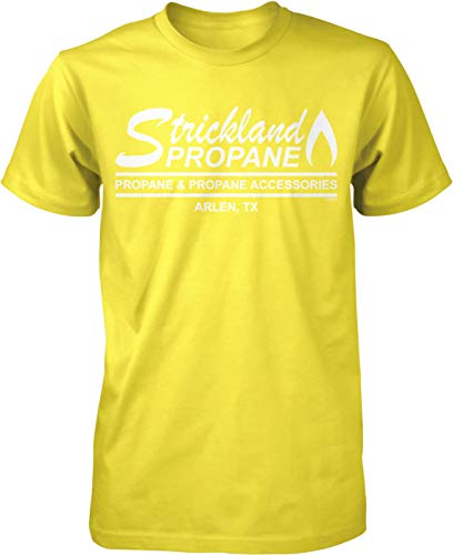 NOFO Clothing Co Strickland Propane, Arlen, TX Men's T-Shirt, S Yellow