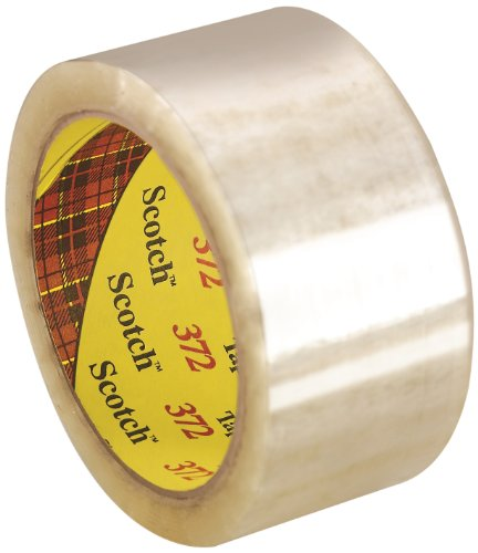 3M Scotch Box Sealing Tape 372, 72 mm x 50 m, Clear (Pack of 24)