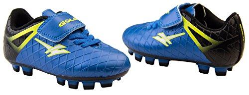 Gola Activo 5 Niños Zapatos de Fútbol de Césped Artificial Azul y Negro