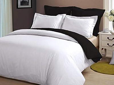 RRlinen Luxury 5 Piece Reversible Duvet Cover Set with Zipper & Corner Ties 600 TC (1 Duvet Cover & 4 Pillowshams).