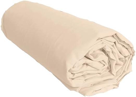 Sábana bajera de satén de algodón, 120 hilos/cm², 40 cm de ...