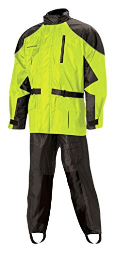 Nelson Rigg Unisex Adult AS-3000-HVY-01-SM Aston Motorcycle Rain Suit 2-Piece, (Hi-Visibility Yellow, ()