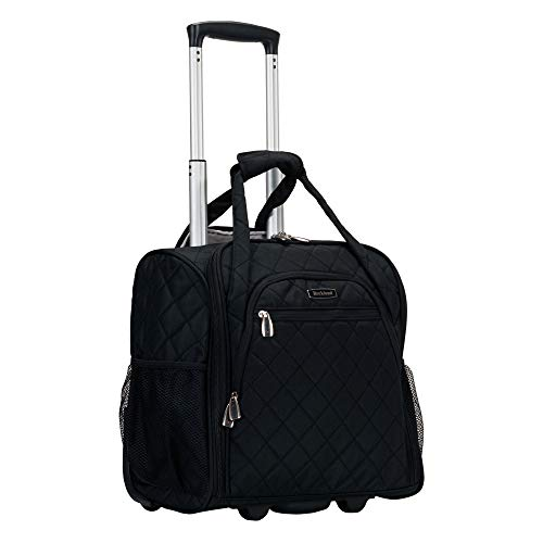 41d4qfnpBAL - Rockland Wheeled Underseat Carry-on, Black