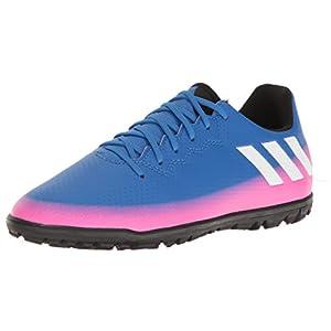 adidas Performance Boys' Messi 16.3 TF J Skate Shoe, Blue/White/Warning, 1.5 M US Little Kid