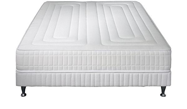 Simmons Praga Juego de colchón + somier + pie, Blanco, 140 x ...