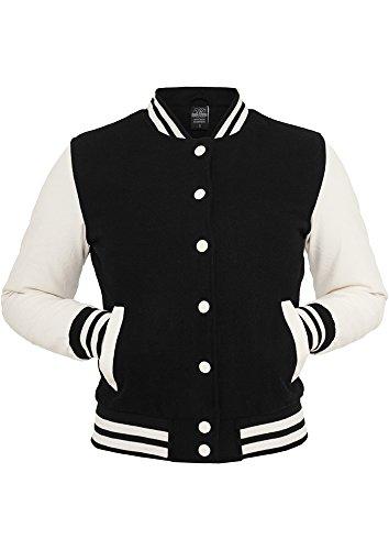 MAG Urban Classics tb217Ladies Oldschool College Jacket Chaqueta Mujer Streetwear Jacken blk/wht
