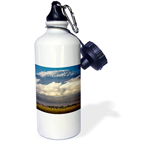 - 3dRose Danita Delimont - Mountains - Amboseli National Park, Kenya - 21 oz Sports Water Bottle (wb_276451_1)