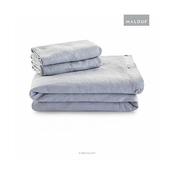 Woven Vintage Wash French Linen Duvet Set