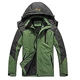 iDWZA Fashion Women Men's Autumn Winter Assault Clothing Thickened Fluffy Hooded Coat(Green,US M/CN L)