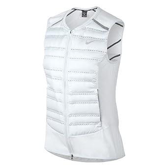 de2f4e86bca7 Nike AeroLoft Women s Running Vest (Pure Platinum Black Metallic Silver