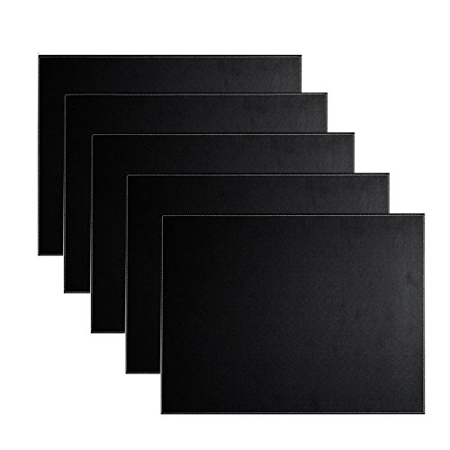 UnionBasic PU Leather Desk Mat - Executive Blotter and Protective Mat & Protector Mouse Pad for Desktops and Laptops, 24
