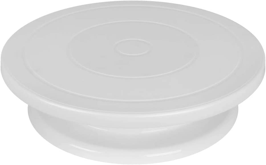 Kootek 11 Inch Rotating Cake Turntable, Turns Smoothly Revolving Cake Stand White Cake Decorating Kit Display Stand Baking Tools Accessories Supplies for Decoration