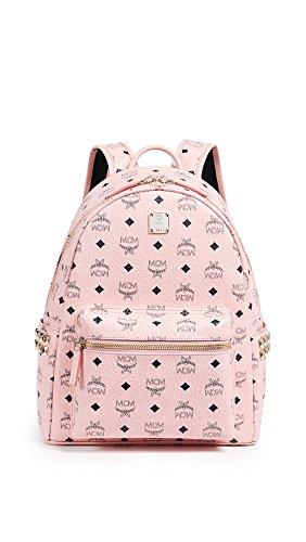 MCM Unisex Stark Side-Stud Small Medium Backpack Soft Pink One Size