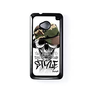 Skull Army Black Hard Plastic Case Snap-On Protective Back Cover for HTC® One M7 by Gangtoyz + FREE Crystal Clear Screen Protector