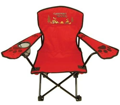 Kids Folding Camp Chair, Ages 2-6, Bear/Moose (Color Varies)