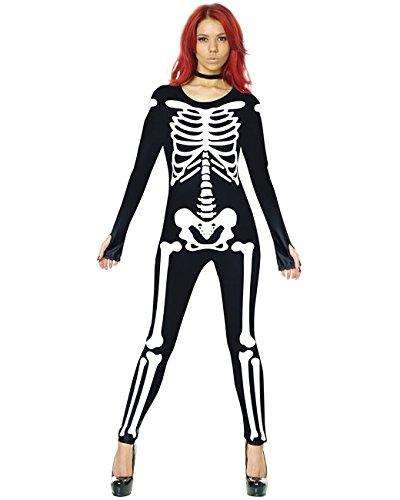 Skeleton Morphsuit Womens Costume, Medium 8-10 (Womens Skeleton Costume)