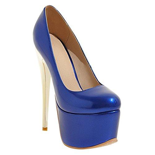 Plateformes Bleu Hauts Talons Escarpins Femmes MissSaSa 6qx811