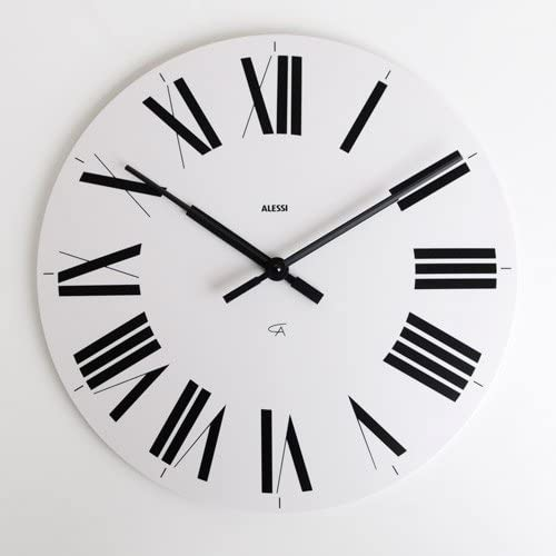 Alessi Aleesi 12 W Firenze Wall Clock, White